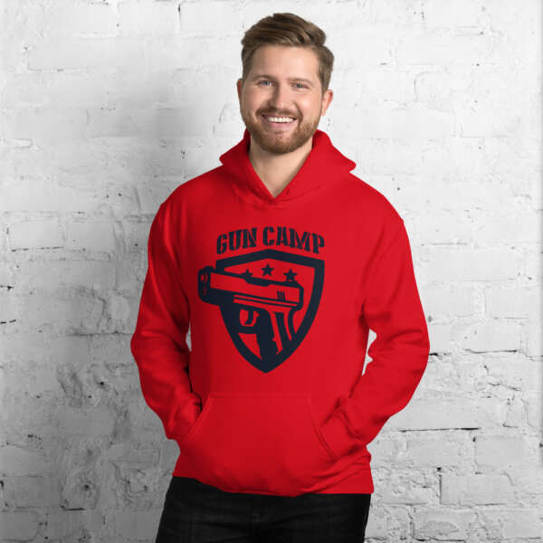 red the gun camp hoodie unisex